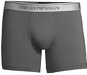 Emporio Armani Men's Shiny Logo Band Boxer Briefs