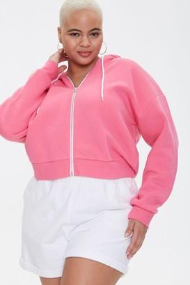 Forever 21 Plus Size Fleece Zip-Up Hoodie