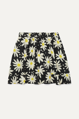 Solid & Striped Kids - Floral-print Crepe De Chine Skirt - Black
