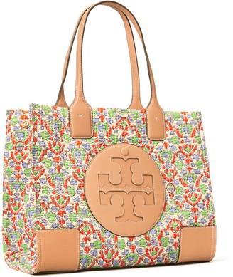 Tory Burch Ella Floral Quilted Mini Tote Bag