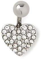 Forever 21 Rhinestone Heart Belly Ring