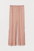 H&M Satin Pajama Pants - Pink