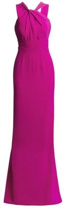 Gustavo Cadile Twist Halter Column Gown