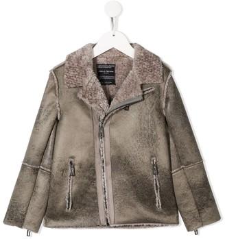 Paolo Pecora Kids Long Sleeved Panelled Jacket