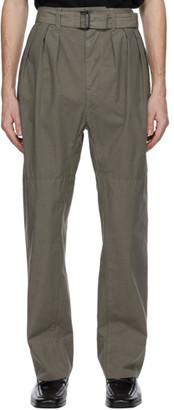 Lemaire Grey 4 Pleats Trousers