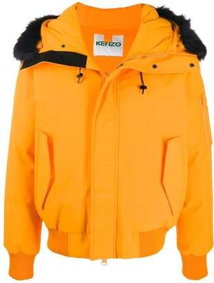 Kenzo faux fur-trimmed bomber jacket
