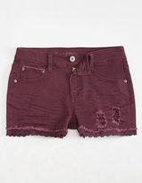 Vanilla Star Premium Crochet Trim Girls Denim Shorts