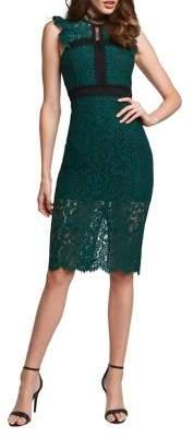 Bardot Latoya Highneck Flutter Lace Dress