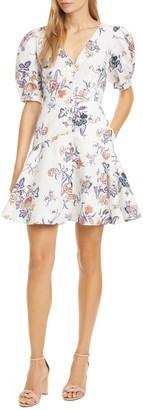 Rebecca Taylor Short Sleeve Toile Dress