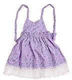 Sunfei Girl Lace Baby Princess Sleeveless Dress Party Wedding Tutu Dress (130, Purple)