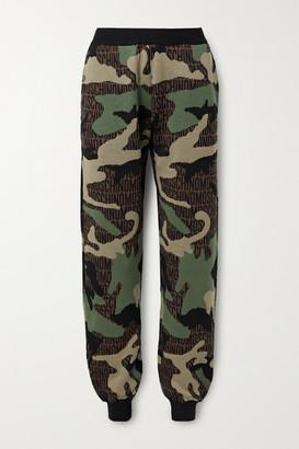 Moschino Jacquard-knit Wool Track Pants - Green
