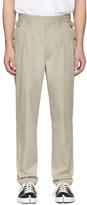 Maison Margiela Beige Side Strap Trousers