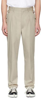 Maison Margiela Beige Side Strap Trousers
