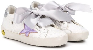 Golden Goose Superstar bow-embellished sneakers