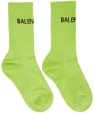 Balenciaga Green Tennis Socks