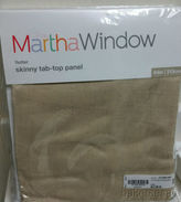 Martha Stewart Marthawindow Flutter Skinny Tab-top Curtain Panel - Sheer Linen - 50 X 84