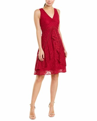 Taylor Dresses Women's Sleeveless Lace Ruffle Front Cocktail Dress