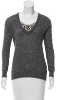 Tory Burch Embellished Long Sleeve Sweater
