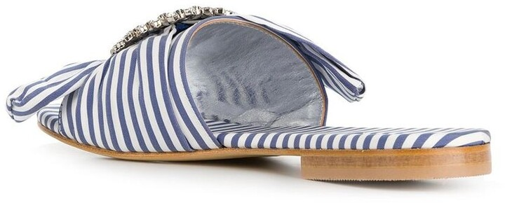 Thumbnail for your product : Emanuela Caruso Striped Mules