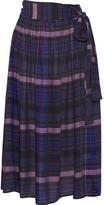 Apiece Apart Elisa Printed Voile Midi Skirt - Storm blue