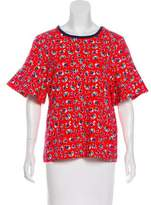 Draper James Floral Bell Sleeve Top