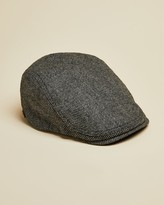 Ted Baker HEMSLEY Semi plain wool blend flat cap