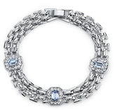 JCPenney 1928 Jewelry Crystal and Light Blue Stone Line Bracelet