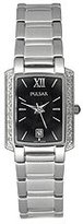 Pulsar Women's PXT699 Diamond Black Mother Of Pearl Dial Stainless Steel Watch