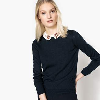 La Redoute Collections Jewelled Peter Pan Collar Jumper