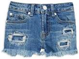 7 For All Mankind Girl's Distressed Denim Shorts
