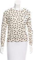 Band Of Outsiders Wool Printed Top