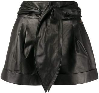 Liu Jo High-Rise Tie Waist Shorts
