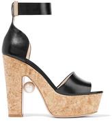 Nicholas Kirkwood Maya embellished leather platform sandals