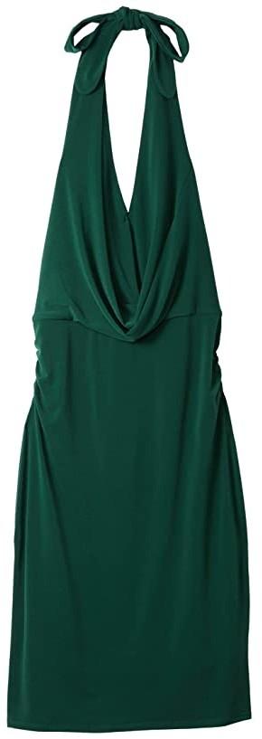 Halston Jersey Drape Cowl Dress (Agave) Women's Clothing