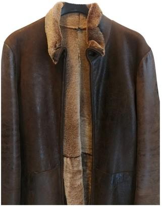 Emporio Armani Brown Mongolian Lamb Coat for Women