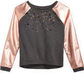 Epic Threads Glitter-Print Sweatshirt, Big Girls, Created for Macy's