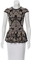 Torn By Ronny Kobo Floral Patterned Peplum Top