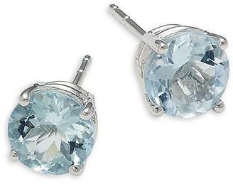 Saks Fifth Avenue 14K White Gold & Aquamarine Earrings