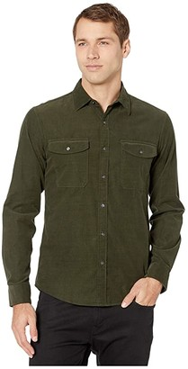 Michael Kors Long Sleeve Two-Pocket Corduroy Shirt (Ivy) Men's Clothing
