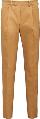 Prada Cropped Pleated Chinos