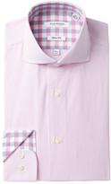 Isaac Mizrahi Fine Line Stripe Slim Fit Dress Shirt