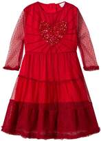 Wild & Gorgeous Red Love Dress with Sequin Heart