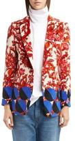 Dries Van Noten Women's Mix Print Velvet Jacket