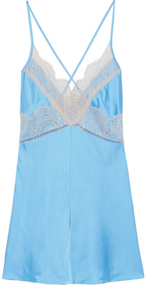 Victoria Beckham Open-back Lace-trimmed Satin Camisole