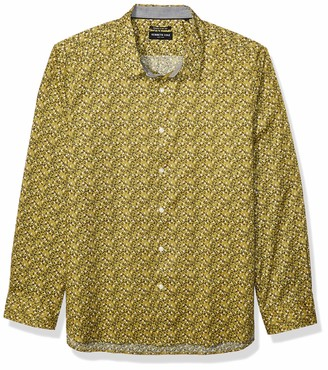 Kenneth Cole Men's Long Sleeve Button Up Multi Floral Print Shirt