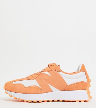 New Balance 1-800-SUMMER 327 sneakers in orange - exclusive to ASOS