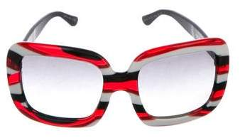 Dolce & Gabbana Striped Square Sunglasses