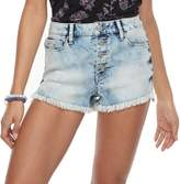 Mudd Juniors' Frayed Button Fly Shortie Jean Shorts