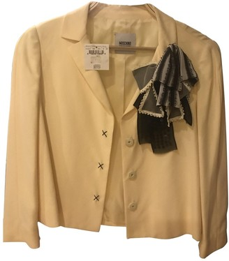 Moschino Cheap & Chic Moschino Cheap And Chic Yellow Cotton Jacket for Women