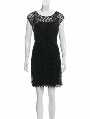 Prada Embellished Silk Dress Black